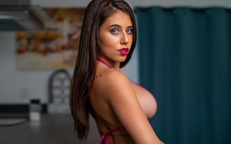 pretty woman in kitchen